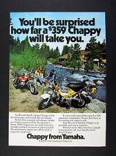 1975 Yamaha Chappy mini-bike minibike photo vintage print Ad