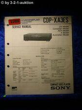 Sony Service Manual CDP XA3ES CD Player (#2289)