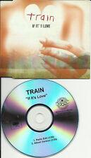 TRAIN If it's Love EDIT TST PRESS PROMO DJ CD single