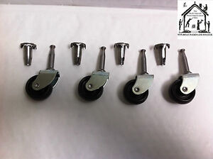 Metal Wheel Castors With Caster Pegs Beds Sofas Office Chairs Hold's 43Kg each