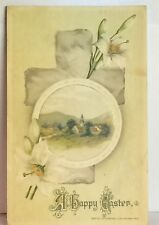 PostCard A Happy Easter Floral Holiday Made in Germany Posted 4-1-1914 Vintage
