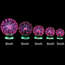 Plasma Ball Lamp Magic Sphere Nebula Globe Desktop Light Party Decor 3/4/6/8 in