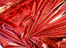 Folienjersey Stoff Schuppenoptik glitzernd elastisch Rot EUR 9,97//m