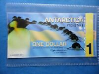 ANTARCTICA 1 DOLLAR 2011 NEW POLYMER FANTASY BANKNOTE PENGUINS.COMB/SHIPPING