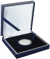 Blue Leatherette Box for T Size Airtite Coin Capsules Display Gift Guardhouse US