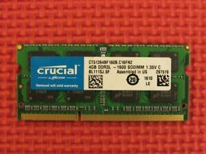 Crucial 4GB (1-Stick) DDR3L-1600 PC3-12800 SODIMM Memory CT51264BF160B.CF16FN2