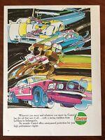 Vintage 1970 Original Print Ad CASTROL MOTOR OIL