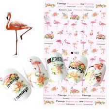 3D Nagel Abziehbilder Maniküre Flamingo Muster Ultra-dünn Transfer Aufkleber DIY