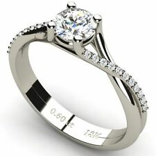 Solitaire with Accents VS1 Fine Diamond Rings