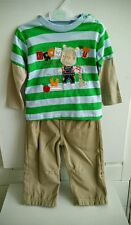 Boys outfit t-shirt trousers that can turn into shorts 6-12 months