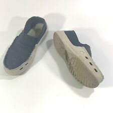 CROCS Tideline Canvas Loafers Mens Size 9M Blue Gray Boat Shoes