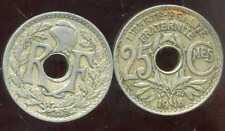 FRANCE  25 centimes  LINDAUER  1918   ( etat )