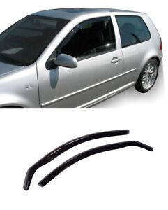 FOR VOLKSWAGEN GOLF 1997-05 3 DOOR,4 R32 GTI GT WINDOW VISORS SUN RAIN GUARD