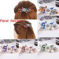 Hair Styling Flower Barrette Crystal Hairpin Headwear Resin Floral Hair Clip-WI