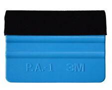Pack of 3 - Pro Vinyl Wrapping Squeegee Felt Tool Edge Car Van Bike Wrap Blue