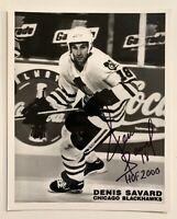 NHL Dennis Savard Chicago Blackhawks Autographed 8x10 Photo Hand Signed Hockey