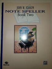 New John Schaum Note Speller Book 2