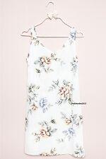 NEW! brandy melville white floral v neck Taliyah slip Dress NWT XS/S