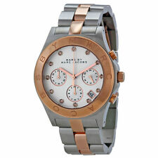 Marc by Marc Jacobs Chronograph Silver Dial Two-tone Women's Watch-MBM3178