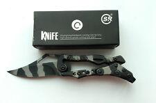 Mini Cute SR Stainless Steel Mechanical Lock Saber Pocket Folding Knife  New