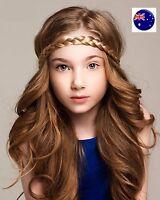 Lady Girl Bohemian Braid Wig Wedding Beach Braided Plait hair band headband