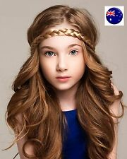 NEW Lady Girl Braided Fairy Bohemian Braid Wig Wedding Beach hair band headband