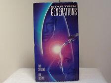 Star Trek: Generations (VHS ) William Shatner & Patrick Stewart - FREE SHIPPING!