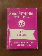 Vintage Synchrotone S-4 Ukulele Pitch Pipe Tuner-Made in Usa In Orig Box Unused