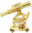 Polished Brass Nautical Alidade Telescope Compass Transit Surveying Theodolite