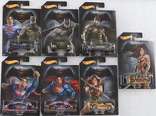 Película Batman vs. Superman Serie Set 7 Pzs. 1:64 Hot Wheels EE.UU. DJL47