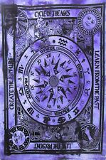 Purple Color Wall Hanging Beautiful Design Cotton Tapestry Poster Indian Hippie