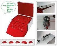 SAFE 273 ALU Münzkoffer GIGANT 15 Tableaus Mixed bis 50 mm Für über 500 Münzen