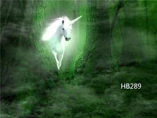 7X5FT Jungle White Unicorn Vinyl Backdrop CP Photography Props Background HB289