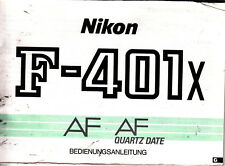 Nikon F-401x AF Quartz Date Originale Bedienungsanleitung N.B.199