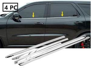 Stainless Steel Polished Chrome Window Sill Trims For 2011-2017 Dodge Durango