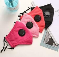 Colored Cotton Washable Sports Face Cover w/ 2 Filters US SELLER