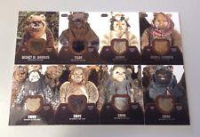 Star Wars Jedi Legacy COMPLETE  Film Prop Relic 8 Card Set of EWOK FUR - RARE!!!