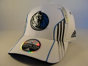 Dallas Mavericks NBA Adidas Flex Hat Cap Size L/XL White