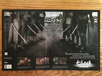Seven Samurai 20XX PS2 Playstation 2 2004 Vintage Video Game Poster Ad Print