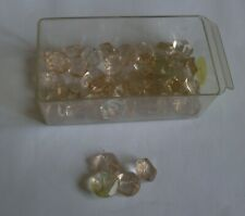 Vintage Faceted Coloured Glass Shank Buttons - 10mm diameter