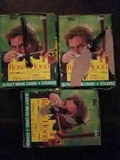 % 1991 Topps Robin Hood Prince Of Thieves~Kevin Costner~Wax 3 boxes @ 36 pks/box