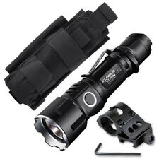 Klarus XT11GT Flashlight -2000Lm w/Battery, Offset Gun Mount +Tactical Holster