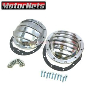 """Polish Finn Front&Rear Differential Cover CHEVROLET Chevy GMC 10 bolts 8.5"""" RG"""