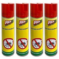 4x Insektenspray 400ml Insektenbekämpfung Mückenspray Fliegen Mücken Spray