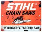 "Vintage Reproduction Stihl Chain Saw 9"" x 12"" Metal Tin Aluminum Sign"