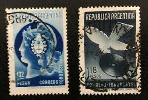 ARGENTINA. 1939.RECORD.USED SET OF 2.SCOTT# 470/1.CAT.VAL. 20 US$.