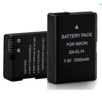 EN-EL14 Battery 1030mAh 7.4V For Nikon D3100 D3200 D3300 D5100 D5200 D5300 P7000