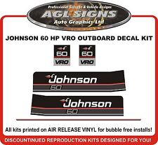1989 1990 JOHNSON 60 HP VRO Outboard Decal kit reproductions  also 70 hp