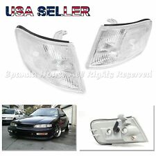 FOR 94-97 HONDA ACCORD 2-DOOR 3-DOOR CLEAR WHITE FRONT CORNER LIGHT ASSEMBLY USA