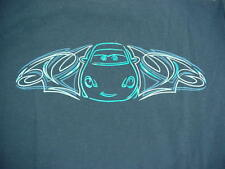 Cars Land SALLY CARRERA Disney California Adventure Navy Blue T-Shirt Large NWT